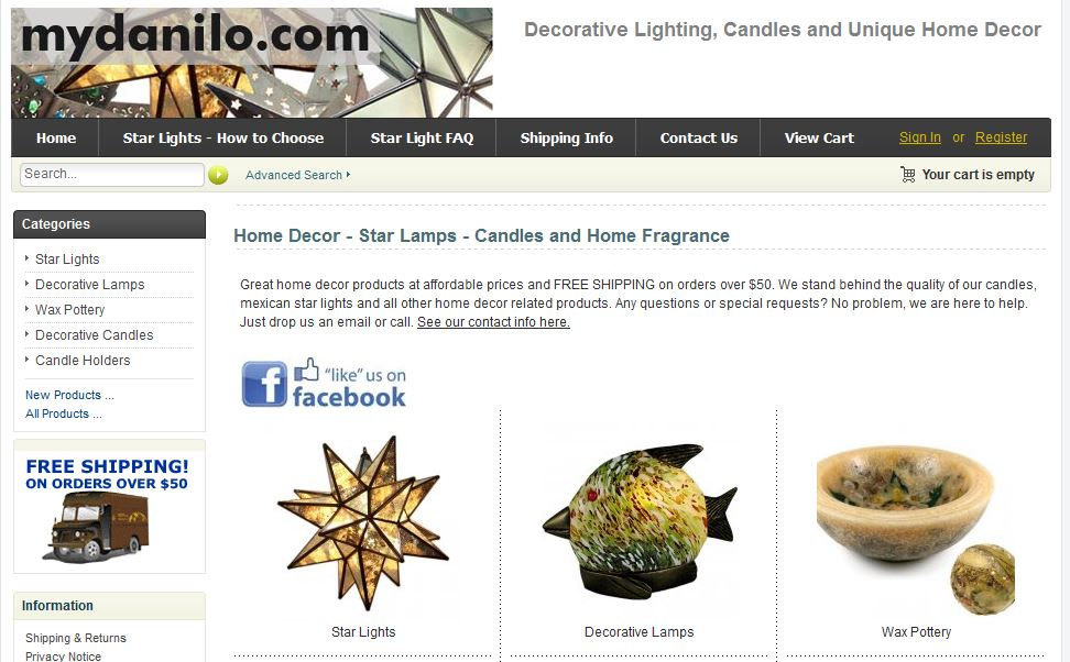 A Home Decor Store With A Mixture Of Products Ranging Form Candle Related  Products, Star Lamps, Decorative Tiffany Style Lamps And Other Unique Home  Decor ...